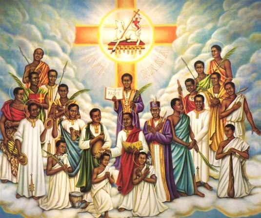 Catholic devotional image of the Uganda Martyrs.jpg