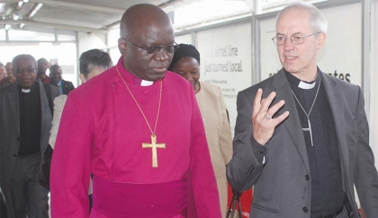 Welby and Chama at the Lusaka airport.jpg