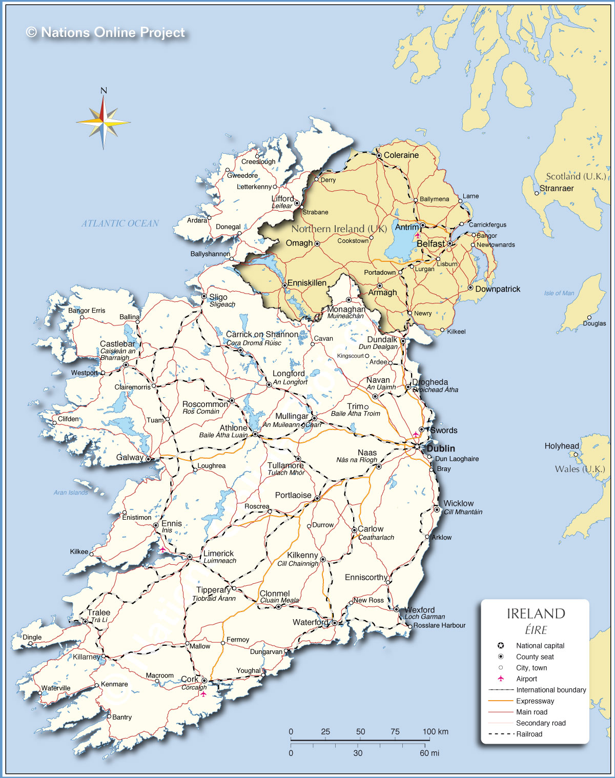 Ireland And Northern Ireland Map.Irish Church Leaders Welcome Political Accomodation Reached In