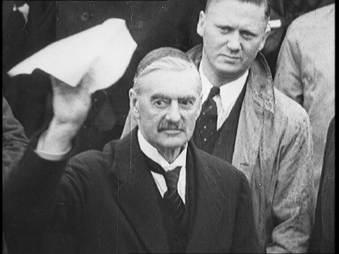 Neville Chamberlain - peace in our time.jpeg